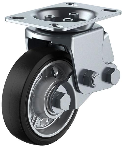 SKY-2R型 固定車 緩衝器付 150mm ゴム ※受注生産品 ユーエイキャスター SKY-2R150AW-A-2