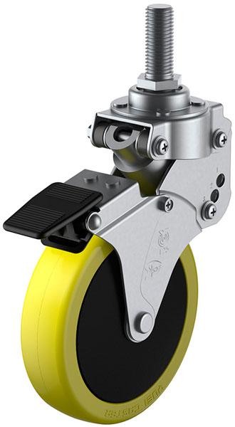 SKY-T-S型 緩衝器付 ストッパー M12×35 100mm 受注生産品 ユーエイキャスター SKY-T100SUES-3M12x35
