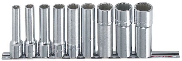 MITOLOY 1/2 ソケットレンチセットディープイプ インチ ホルダー10点セット ※取寄品 RS410L