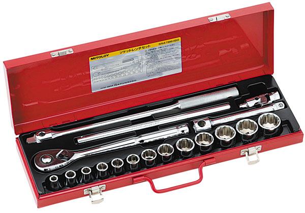 MITOLOY 1/2 ソケットレンチセット スタンダードタイプ メタルケース19点セット ※取寄品 SN419M-ISO