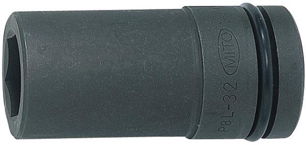 MITOLOY 8/8 インパクトレンチ用ソケット ロングタイプ(6角)2-1/16inch ※取寄品 P8L-2-1/16