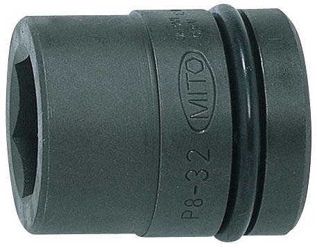 MITOLOY 8/8 インパクトレンチ用ソケット スタンダードタイプ(6角)63mm ※取寄品 P8-63