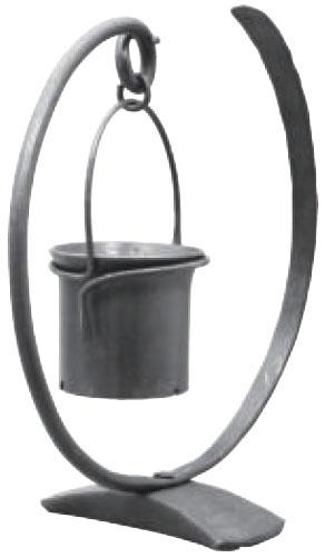 みきかじや村 millio 鍛造フラワースタンド (ループ・3号鉢・アーム) ※取寄品 TS227