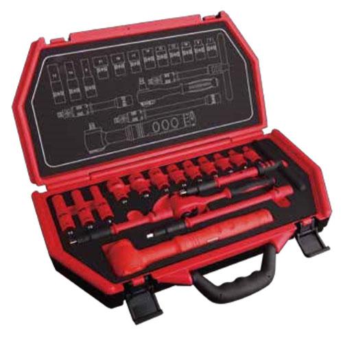 SEK(スエカゲ) ProAuto 3/8inch (9.5sq) DR.16PC.絶縁工具セット 9.5sq ※取寄品 P-E316A