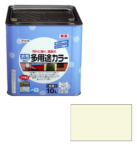アサヒペン 水性多用途カラー 10L ミルキーホワイト ※取寄品