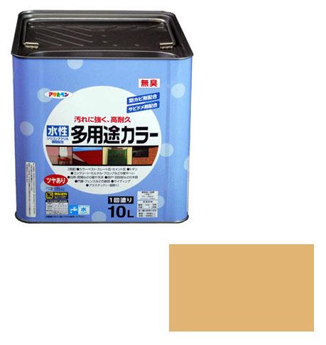 アサヒペン 水性多用途カラー 10L シトラスイエロー ※取寄品
