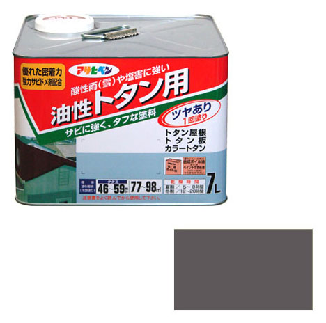 アサヒペン 油性トタン用 7L グレー(ねずみ色) 取寄品