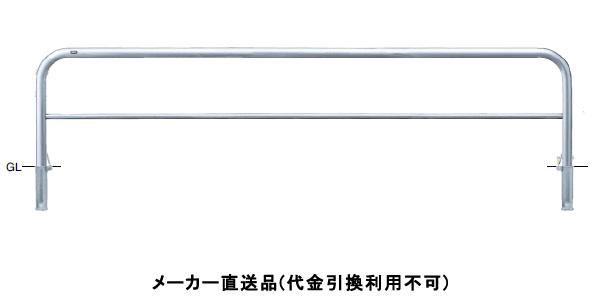 サンポール 受注生産 アーチ 差込式カギ付 車止めポール 直径60.5mm W3000×H650 ステンレス製 メーカー直送 AH-7SK30-650