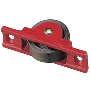 赤枠ローラー戸車 鋳物枠(90mm・平型)(1箱・4個) ヨコヅナ RJC-0902