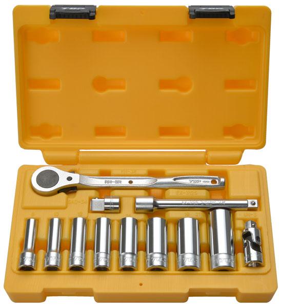 TOP サーフェイスディープソケットレンチセット 差込角9.5mm 取寄品 DWS-308RS