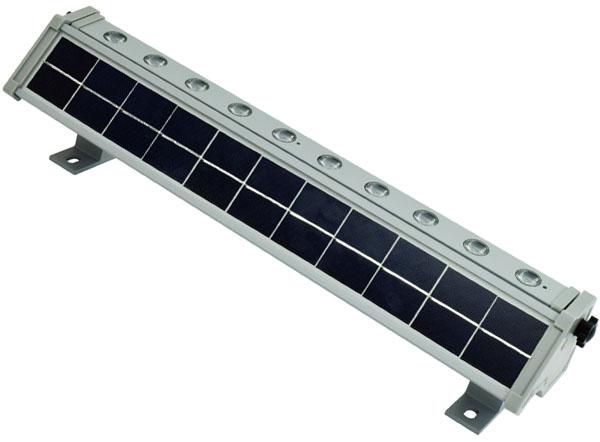 日動 ソーラーLED ウォールライト 充電式LED 3W×10 業務用 屋外型 防水規格IPF65 取寄品 LWL-3W10P-SO