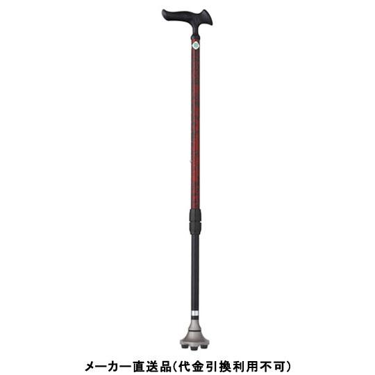 Fuji Home フジホーム Walking Stick ステッキ 杖 かるがも 3ポイントステッキ バーズアイレッド メーカー直送 代引不可 WB3824