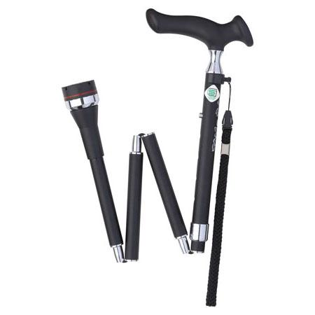 Fuji Home フジホーム Walking Stick ステッキ 杖 かるがも ロータリー 折畳 ブラック 取寄品 WB3834