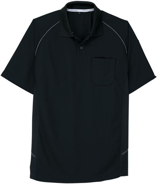 コーコス 半袖ポロシャツ ブラック 5L ※取寄品 A-3377:大工道具・金物の専門通販アルデ