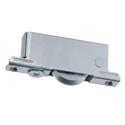 重量調整戸車 ベアリング入MCナイロン車 ステンレス枠(50mm・V型)(1箱・4個) ヨコヅナ TMS-0509