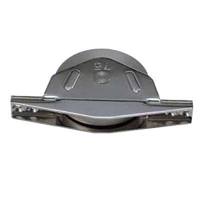 ベアリング入 ステンレス底車(75mm・袖型)(1箱・2個) ヨコヅナ ZBS-0753