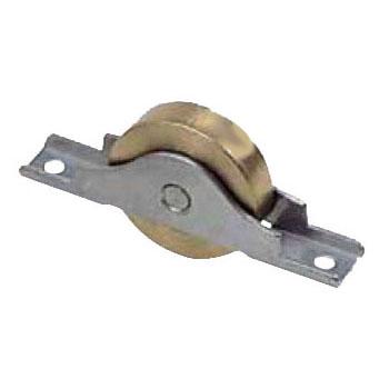 ヨコヅナ ベアリング入真鍮戸車 ステンレス枠(36mm・平型)(1箱・12個) BTS-0362