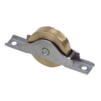 ヨコヅナ ベアリング入真鍮戸車 ステンレス枠(50mm・平型)(1箱・4個) BTS-0502