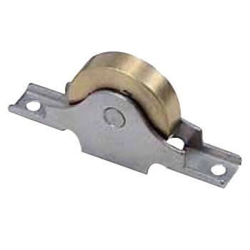 ベアリング入真鍮戸車 ステンレス枠(75mm・袖平型)(1箱・2個) ヨコヅナ BTS-0753