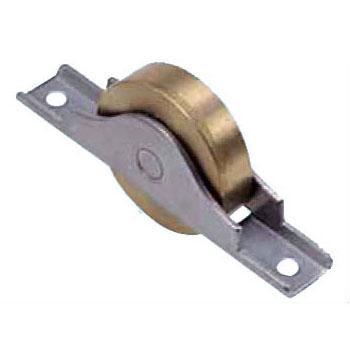 440Cベアリング入真鍮戸車 ステンレス枠(30mm・平型)(1箱・12個) ヨコヅナ BYS-0302