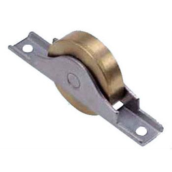 ヨコヅナ 440Cベアリング入真鍮戸車 ステンレス枠(50mm・平型)(1箱・4個) BYS-0502