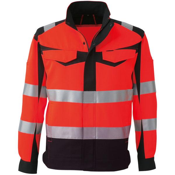 コーコス 高視認性安全ジャケット レッド S ※取寄品 CS-2410