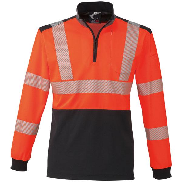 コーコス 高視認性安全長袖ポロシャツ オレンジ 3L ※取寄品 CS-2478