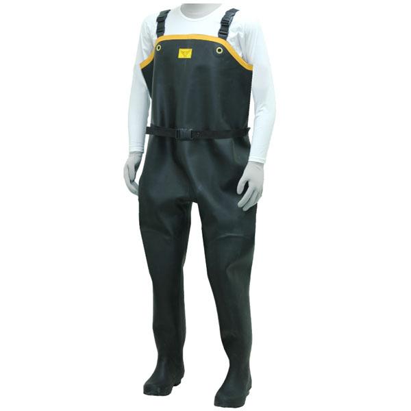 胴付水中長靴 ブラック 27.0cm メーカー直送 代引不可 シバタ工業 ND010