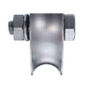 ステンレス重量戸車 車のみ(ボルト・ナット付)(100mm・溝R型)(1個価格) ヨコヅナ JBP-1001