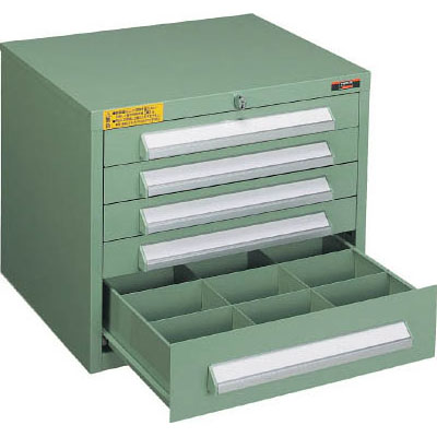 トラスコ 卓上ワイドミニキャビネット 人気ブランド 交換無料 引出H60 4個 H120 WLVR-423-GN 1個 グリーン 500×412×420mm