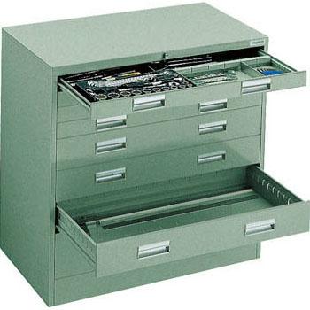 トラスコ WVR型軽量キャビネット(ワイド引出)880×500×880mm グリーン WVR-L8W