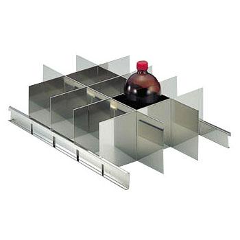トラスコ 耐震薬品庫用仕切板セット1000mlびん用(15本収納)(1セット価格) SY-1000SS