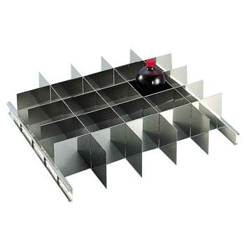 トラスコ 耐震薬品庫用仕切板セット1000mlびん用(25本収納)(1セット価格) SYW-1000SS
