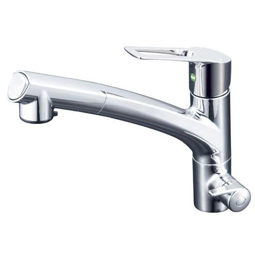 KVK 浄水器専用シングルレバー式シャワー付混合栓 eレバー ※取寄品 KM5061NEC