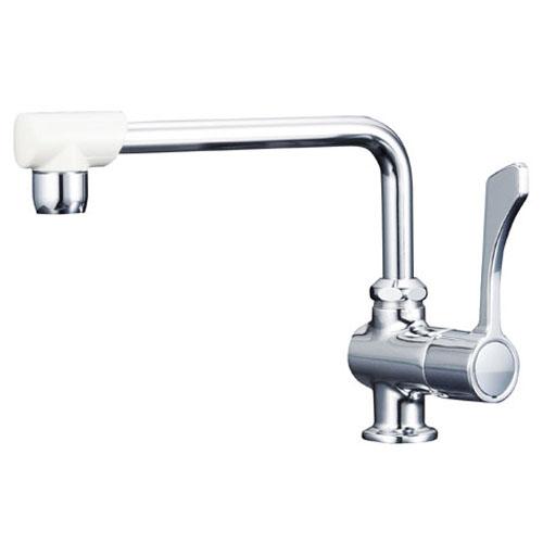 KVK ワンタッチハンドル付き立型自在水栓 190mm泡沫パイプ ※取寄品 K1802F