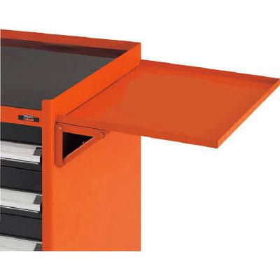 トラスコ TWVE型キャビネットワゴン用サイドテーブル 503×400×90mm オレンジ 代引不可 メーカー直送品 TWVE-ST-O
