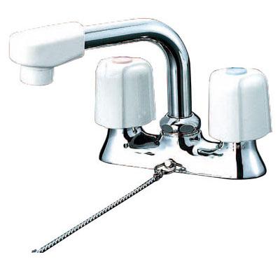 KVK 寒 洗面用2ハンドル混合栓 ゴム付き ※取寄品 KM17NSZGS