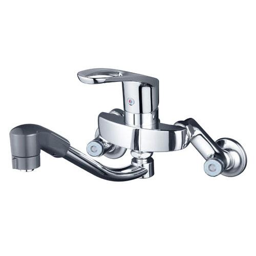 KVK 寒 シングルレバー式シャワー付混合栓 ※取寄品 KM5000ZTF