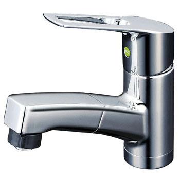 KVK 寒 洗面用シングルレバー式シャワー付混合栓 eレバー ※取寄品 KM8001ZTFEC