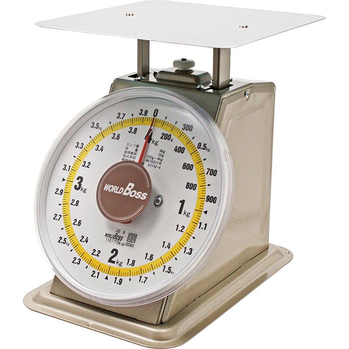 ワールドボス 並型上皿自動秤検定品(取引照明用) 30kg 取寄品 高森コーキ MYM-30 (市場 露店 自動 見やすい 目盛 シール )