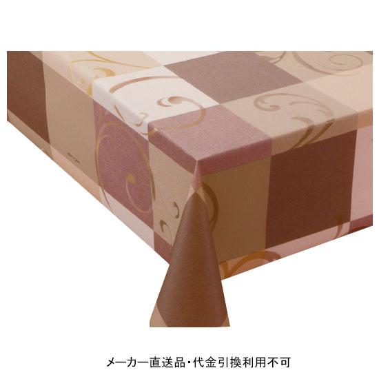 テーブルクロス ロール プリーレンスクロス ブラウン 幅135cm 20m巻 メーカー直送 代引不可 明和グラビア MGPL-127 ( ロール物 テーブル テーブルクロス ビニール ビニル 塩化ビニール )