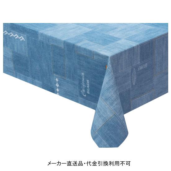 テーブルクロス ロール ニューファブリッククロス ライトブルー 幅120cm 20m巻 メーカー直送 代引不可 明和グラビア NFC-117 ( ロール物 テーブル テーブルクロス ビニール ビニル 塩化ビニール )