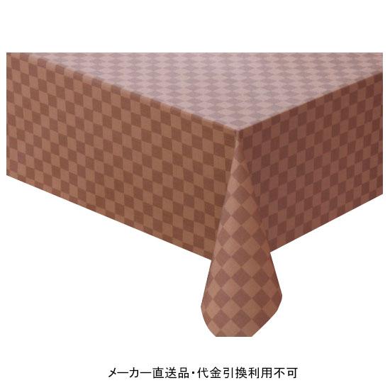 テーブルクロス ロール ニューファブリッククロス ブラウン 幅120cm 20m巻 メーカー直送 代引不可 明和グラビア NFC-118 ( ロール物 テーブル テーブルクロス ビニール ビニル 塩化ビニール )