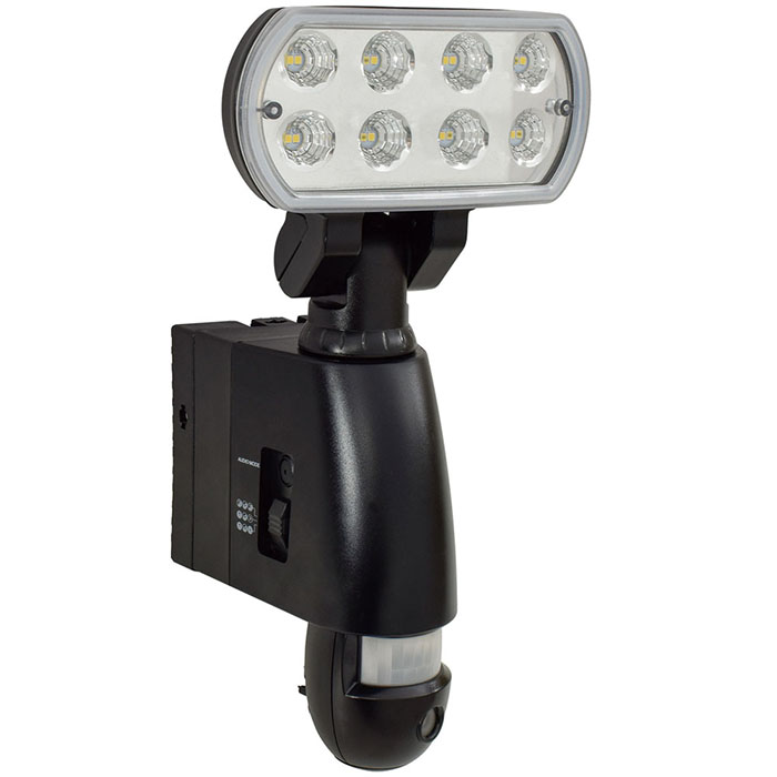カメラ付LEDセンサーライト 60Hz専用 取寄品 日動 SLS-18W-C-60 ( 200万 画素 録画 HD Full SD カード 納屋 ガレージ 庭先 玄関先 資材置場 出入口 工場 倉庫 店舗 32GB マイクロ クランプ)