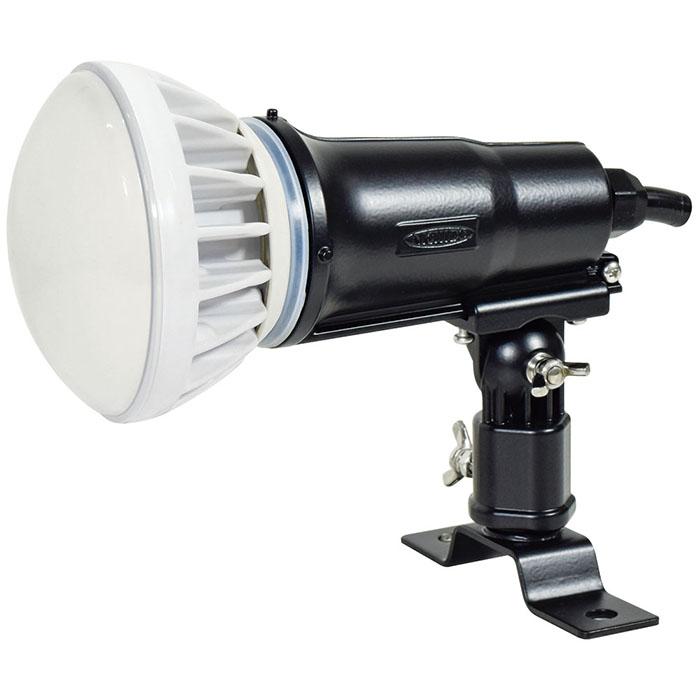 常設用 投光器 アースあり 電線1.5m 黒 20W 昼白色 取寄品 日動 TOL-E20-BK-50K (100V 200V 兼用 常設 屋外型 業務用 口金 E26 3芯 入力電線 1.5m )