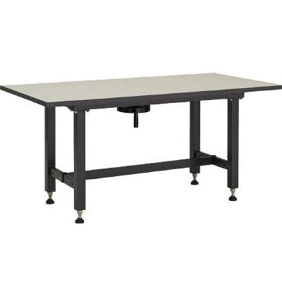 トラスコ ハンドル昇降式作業台(メラミン樹脂天板)1800×750×700~900mm 代引不可 メーカー直送品 TKSS-1875H