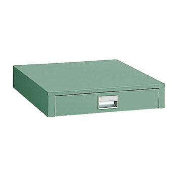 トラスコ UDC型薄型1段引出 450×500×90mm グリーン【代引不可・メーカー直送品】 UDC-001
