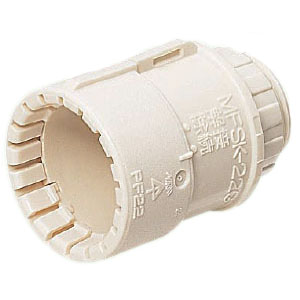 コネクタ(Gタイプ)PF管36用 ミルキーホワイト 50個価格 未来工業 MFSK-36GM