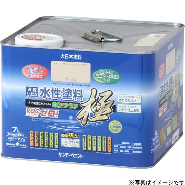 水性ECOアクア ツヤケシ黒 7L 取寄品 サンデーペイント #275519