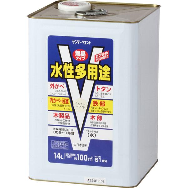 水性多用途 ミルキーホワイト 14L 取寄品 サンデーペイント #265992